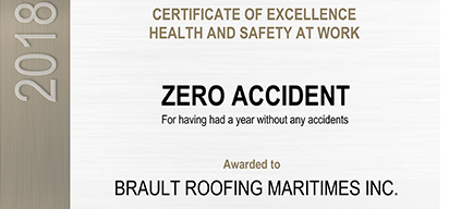 Certificate of Excellence Health and Safety at Work